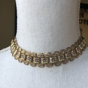 Boho Choker Necklace Shabby Chic Vintage